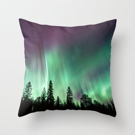 Colorful Northern Lights, Aurora Borealis Throw Pillow