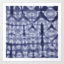 Tie Dye 2 Navy Art Print
