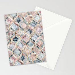 Marble Moroccan Tile Pattern Stationery Cards