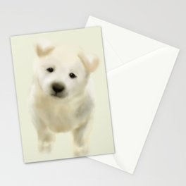 Jindo puppy Stationery Cards