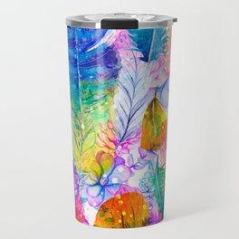 spring feathers Travel Mug