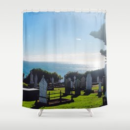 Rest in Beach Shower Curtain