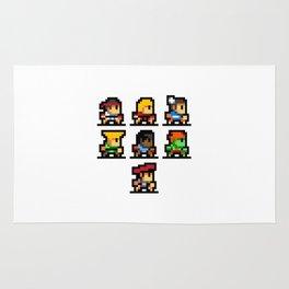 Minimalistic - Street Fighter - Pixel Art Rug