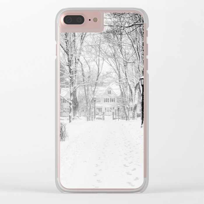 Wandering through Winter Clear iPhone Case