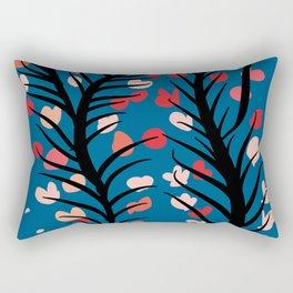 Zen Flowers of Peace Floral Pattern Rectangular Pillow