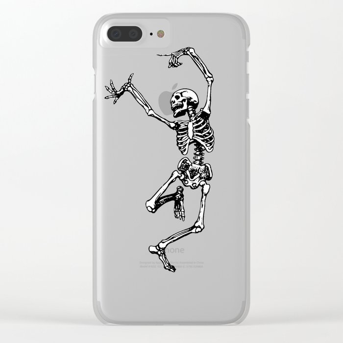 DANCING SKULL Clear iPhone Case
