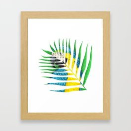 Parrot Palm Leaf Framed Art Print