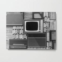 Everything Retro (Black and White) Metal Print