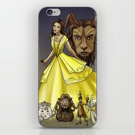 Belle and the Beast iPhone Skin