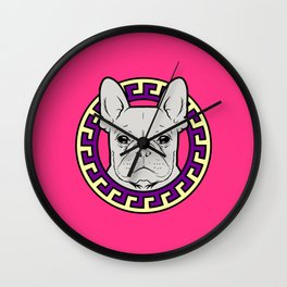 French Caviar - Lollipop Pink Wall Clock