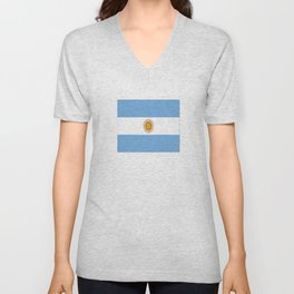 Flag of argentina -Argentine,Argentinian,Argentino,Buenos Aires,cordoba,Tago, Borges. Unisex V-Neck