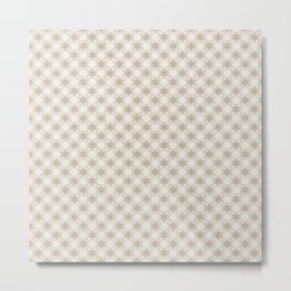 Neutral Color Snowflake Pattern Metal Print
