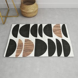Mid-Century Modern Pattern No.7 - Concrete and Wood Rug