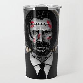 John Wick is Frankenstein's Monster Travel Mug