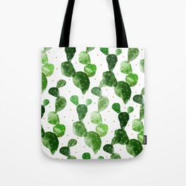 cactus watercolor pattern Tote Bag