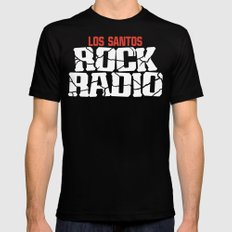 Los Santos Rock Radio Black LARGE Mens Fitted Tee