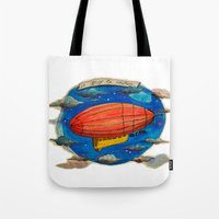 led zeppelin Tote Bags featuring Zeppelin by sugu
