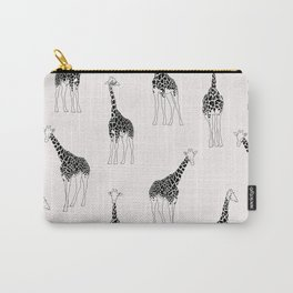 Giraffe illustration print Carry-All Pouch