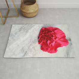 One Pink Carnation Rug