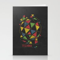 techno Stationery Cards featuring Techno by Sitchko Igor