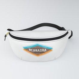 Vintage Mid Century Modern Nebraska Fanny Pack