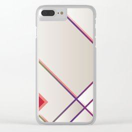 Rainbow Grids Clear iPhone Case