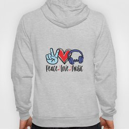 Peace Love Music Hoody