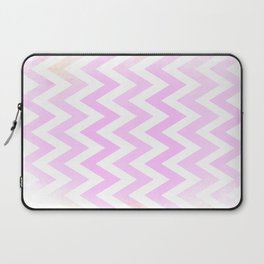Pale Pink textured Chevron Pattern Laptop Sleeve