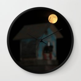 Moon on the Rise Wall Clock