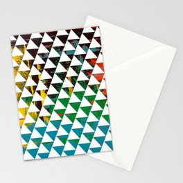 Color Chrome -geometric graphic Stationery Cards