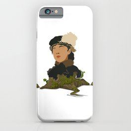 Girl in nature iPhone Case