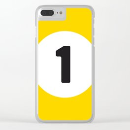 Ball 1 Billiard Clear iPhone Case