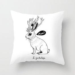 Le Jackalope Throw Pillow