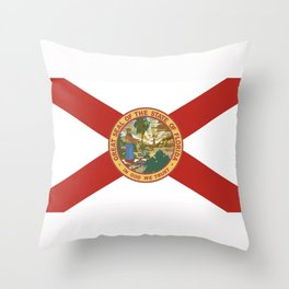 florida state flag united states of america country Throw Pillow