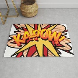 KA-POW Comic Book Flash Pop Art Cool Graphic Rug