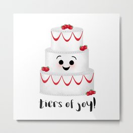 Tiers Of Joy! Wedding Cake Metal Print