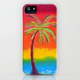 Sunset At Cabo Painting iPhone Case