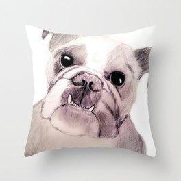 Bully Bull Dog Throw Pillow