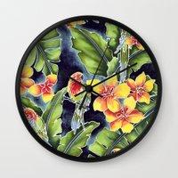 kindle Wall Clocks featuring Tiki Talk by Vikki Salmela