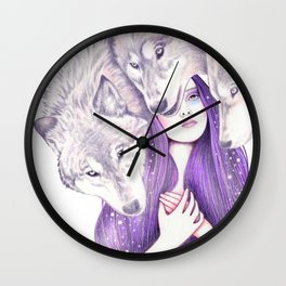 Wolf Pack Wall Clock