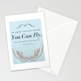 J.M. Barry Peter Pan You Can Fly Wings Stationery Cards