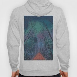 Camp Vibes Screenprint of Tent Under the Stars Hoody