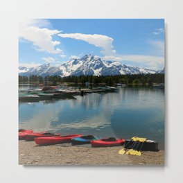 Beautiful Summerday At Colter Bay Metal Print