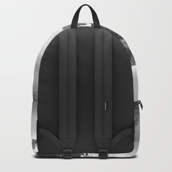 Black and White Ghost of Isolation Backpack