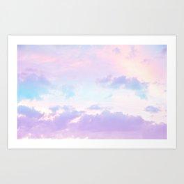 Unicorn Pastel Clouds #1 #decor #art #society6 Art Print