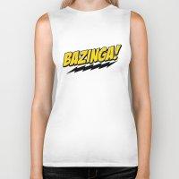 bazinga Biker Tanks featuring Bazinga! by WaXaVeJu