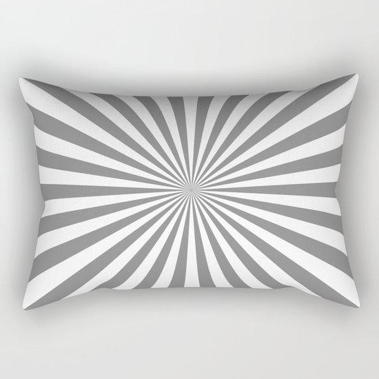Starburst (Gray/White) Rectangular Pillow