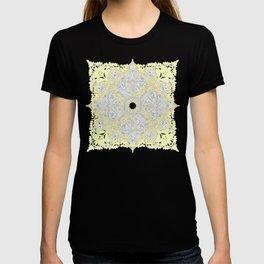 Sunny Doodle Mandala in Yellow & Grey T-shirt