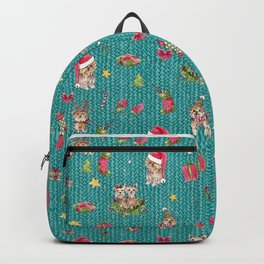 A Very Yorkie Christmas Backpack