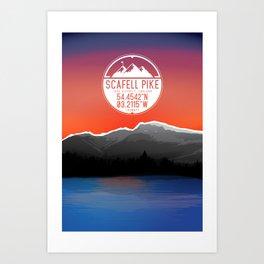 Scafell Pike [Three Peaks Series] Art Print
